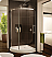 Fleurco Novara Arc 36 Curved Glass Door and Panel