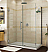 Fleurco Platinum Kara Shower Door and Panel with Return Panel and Wall Mount Hinges