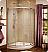 """Fleurco Signature Capri Round 4 Frameless Curved Glass 40"""" Sliding Shower Doors"""