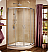 "Fleurco Signature Capri Round 4 Frameless Curved Glass 36"" Sliding Shower Doors"