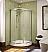 """Fleurco Signature Capri Arc 32"""" Frameless Curved Glass Sliding Shower Doors"""