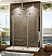Fleurco Evolution 6' Walk in Round Top Shower Enclosure with 2 Side Glass Panels