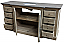 Reclaimed Pine Large Single Vanity with Blue Stone Top Wash Finish