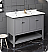 """Fresca Manchester 48"""" Traditional Double Sink Bathroom Cabinet with Top & Sinks - Color Options"""