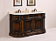 """66"""" Antique Brown Double Sink with Cream Marble top"""