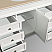 """Andover 60"""" Single Bathroom Vanity in White, Undermount Oval Sinks, and 56"""" Mirror with Countertop Options"""