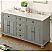 "62"" Vintage Gray Cottage Look Double Sink Glennville Bathroom Sink Vanity"