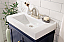"""24"""" Single Sink Bathroom Vanity in 3 Color Options with Ceramic Top and White Ceramic Sink"""