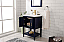 """24"""" Single Sink Bathroom Vanity in Ceramic Top and White Ceramic Sink with Color and Mirror Options"""