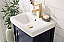 "17"" Single Sink Bathroom Vanity in Ceramic Top and White Ceramic Sink with Color and Mirror Options"