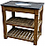 """36"""" Reclaimed Pine Single Vanity with Blue Stone Top Natural"""