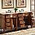 Silkroad Antique Double Sink Cabinet