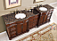 Accord Antique 90 inch Double Sink Bathroom Vanity Baltic Brown Top