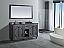"60"" Double Bathroom Vanity Cabinet + Countertop and Mirror Options"
