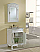 """27"""" Antique White Vanity with Matching Medicine Cabinet"""