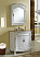 """36"""" Antique White Vanity with Matching Medicine Cabinet"""
