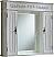 """60"""" Double Antique White Bathroom Vanity"""