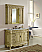 """48"""" Tan with Matching Medicine Cabinet, Cream Marble Top"""