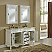 """60"""" Antique White Double with Matching Medicine Cabinet"""