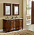 """60"""" Teak Double with Matching Medicine Cabinet"""
