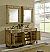 """72"""" Tan with Matching Medicine Cabinet with Cream Marble Top"""