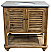 """34"""" Handcrafted Reclaimed Pine Solid Wood Single Pothead Vanity Natural Pine Finish"""