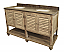 "63"" Handcrafted Reclaimed Pine Solid Wood Double Pothead Bath Vanity"