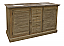 """63"""" Handcrafted Reclaimed Pine Solid Wood Double Bath Vanity"""