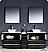"""Fresca Torino 84"""" Espresso Double Bathroom Cabinets"""