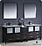 "Fresca Torino 84"" Espresso Double Sink Bath Vanity"