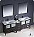"""Fresca Torino 84"""" Oak Double Sink Bath Sink"""