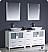 "Fresca Torino 72"" White Modern Double Bathroom Vanity"