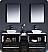 """Fresca Torino 72"""" Espresso Modern Double Bathroom Cabinets"""