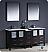 "Fresca Torino 72"" Espresso Modern Double Sink Bathroom Vanity"