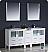 "Fresca Torino 72"" White Double Sink Bathroom Vanity"