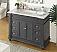 "48"" Bathroom Sink Vanity with Italian Carrara Marble Counter Top"