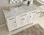 "49"" Italian Carrara Marble Top Single Bathroom Vanity"