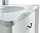 """48"""" Single Bathroom Vanity in White Finish with White Carrara Marble Top"""