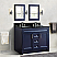 "48"" Double Sink Vanity in Blue Finish with Countertop and Sink Options"