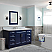"""61"""" Single Sink Vanity in Blue Finish with Countertop and Sink Options"""