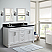 """61"""" Double Sink Vanity in White Finish with Countertop and Sink Options"""