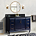 """61"""" Single Sink Bathroom Vanity in Blue Finish with Countertop and Sink Options"""