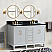 """61"""" Double Sink Bathroom Vanity in White Finish with Countertop and Sink Options"""