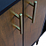 """61"""" Double Sink Bathroom Vanity in Walnut and Black Finish with Countertop and Sink Options"""