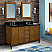 """61"""" Double Sink Vanity in Walnut Finish with Countertop and Sink Options"""