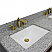 """61"""" Double Sink Bathroom Vanity in Dark Gray Finish with Countertop and Sinks Options"""