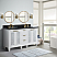 """61"""" Double Bathroom Vanity in White Finish with Countertop and Sink Options"""