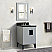 """25"""" Single Sink Vanity in Light Gray Finish with Countertop and Sink Options"""
