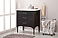 """Transitional 30"""" Single Sink Vanity with Porcelain Integrated Counterop in Espresso Finish"""