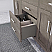 """72"""" French Gray Vanity Finish with Cultured Marble Countertop with Matching Backsplash"""